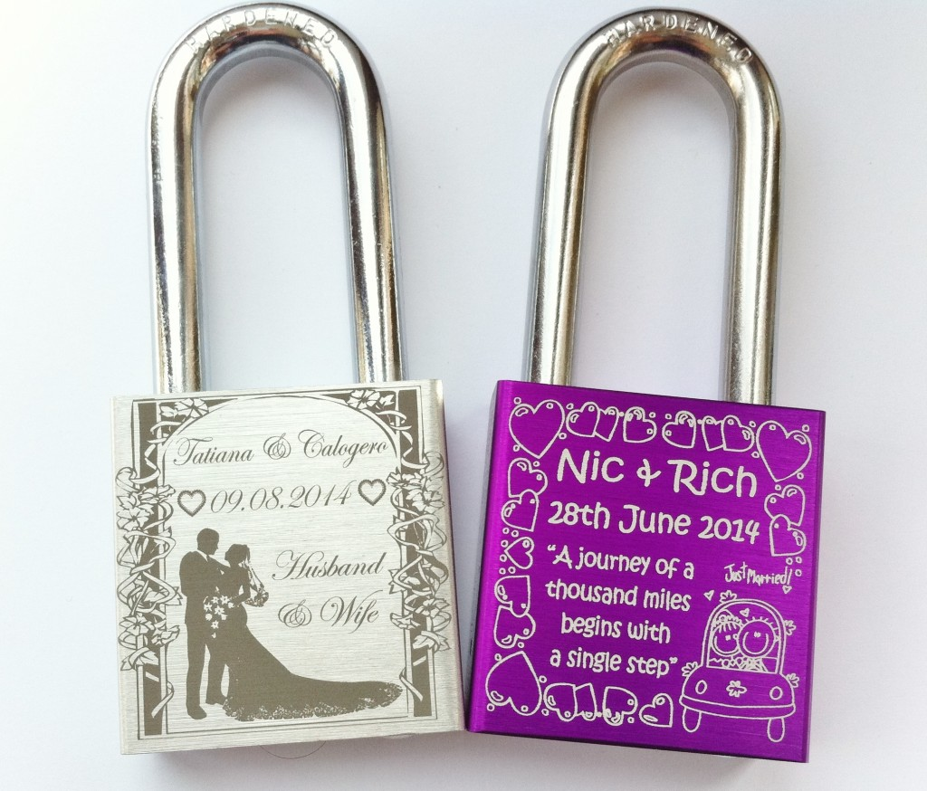 Cool Wedding Gift Ideas: Love Locks From Engraved Padlocks Are